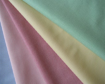 """Bundle of 1/8 Lecien Retro 30's Child Smile Tiny Dots in 5 Colorways. Approx. 9"""" x 21""""  Made in Japan"""