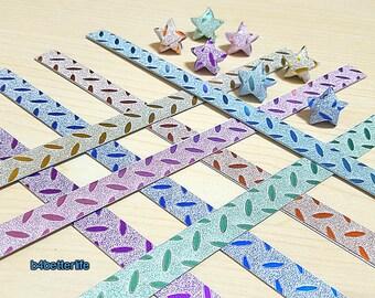 112 strips DIY Origami Star Paper For Folding Medium Size Lucky Stars. 24.5x1.2cm. (HL paper series). #HL71H.