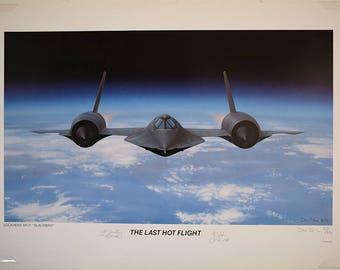 "Dru Blair Lithograph   ""The Last Hot Flight"""