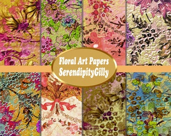 Floral Art Papers