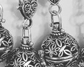 Essential Oil Caged Lava Rock Diffuser Locket Necklace Stainless Steel Chain
