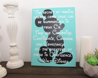 Walt Disney quote, mickey mouse sign, inspirational sign, disney quote sign,