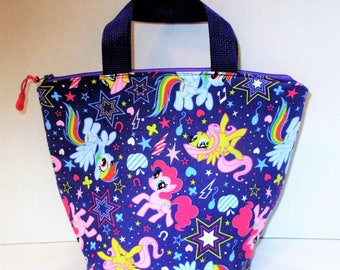RTS SALE  Purple My Little Pony Insulated Lunch Bag