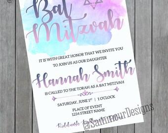 Bat Mitzvah Invitation - Bat Mitzvah Invite - Bat Mitzvah