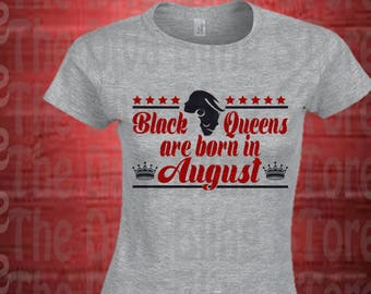 Black Queens Born In August  SVG File
