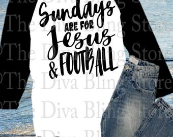Sundays are for Jesus and Football  SVG File