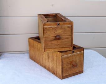 Restored Pair of Vintage Singer Sewing drawers