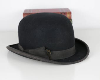 Vintage Bowler Hat British 1960's Never Worn Scott & Co 1 Old Bond Street