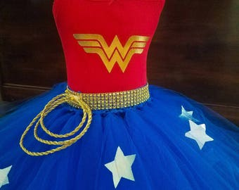 Girl Wonder Woman/wonder woman/wonder woman costume/ Wonder Woman outfit/ Wonder Woman birthday/wonder woman cosplay/wonder woman party/