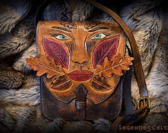 """Autumn legend"" vegetable tanned leather bag"