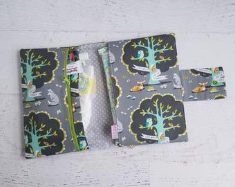 Woodland Diaper Bag | Diaper Clutch Bag | Gray Diaper Bag | Diaper Pouch | Small Diaper Bag | Woodland Baby Shower Gifts | Nappy Bag