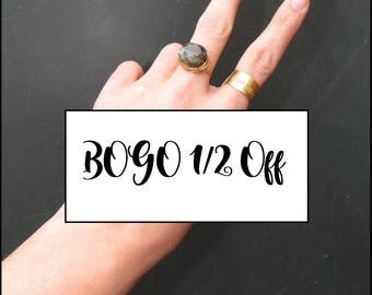 TWO Rings Special / Buy one get one half off