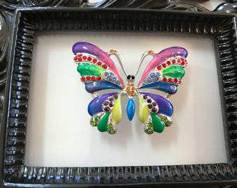 Vivid Jeweled Butterfly Needle Minder