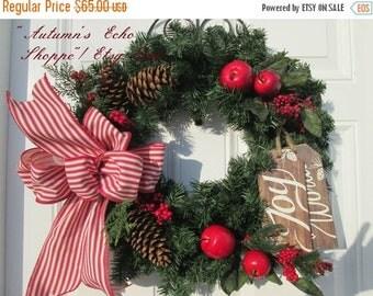 RUSTIC DOOR WREATH~ Rustic Christmas Wreath~ Rustic Christmas Wreath ~Rustic Christmas Decor~Holiday Door Decor~Farmhouse Inspired Holiday ~