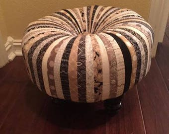 Gorgeous Black and Gold Tuffet Stool