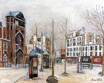 Place des Abbesses, Montmarte - Counted cross stitch pattern in PDF format