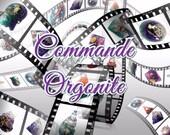 Orgone énergétique Crane violet et bleu