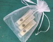 Set of 3 Organic Summertime Lip Balm // Summer Lip Care // Moisturizing // Natural Lip Care // Hostess Gift // Party Favors // Gift Ideas