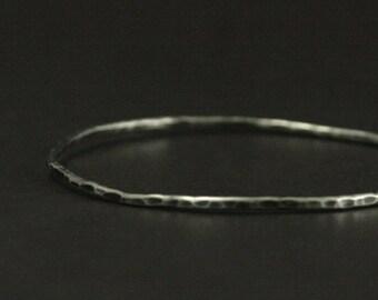 Hammered Bangle--Hammered Bracelet--Silver Bangle--Silver Bracelet--Layering Bracelet--Layering Bangle--Stacking Bangle--Solid Silver