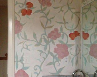 Custom - Original - Hand Painted - Mural Painting - Mural Art - Unique Wall Art To Order - Furniture Too!