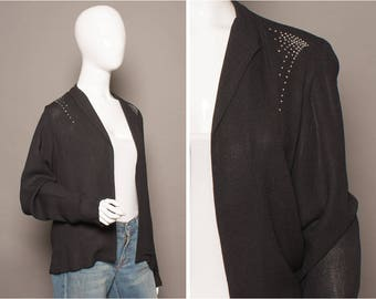 STAWBERRY STUDIO 70s 80s Diamanté DISCO Jacket Uk 12-14