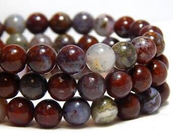 6mm Pietersite, 6mm Gemstone Beads, Red Beads, Pietersite Gemstones, Burgundy Gemstones, Earthy Beads, Round Pietersite Beads,  B-36D