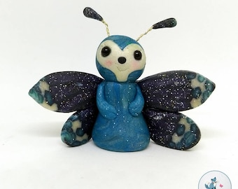Polymer Clay Bug - Butterfly - one of a kind