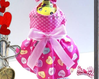 Dog dress/Valentine's Pet Dress/Pink Dress