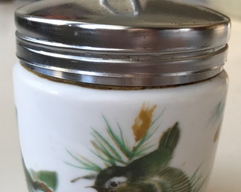 Vintage two egg coddler by Royal Worcester in the Birds Pattern.
