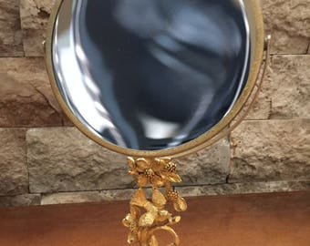 Vintage Matson G795 Swivel Mirror Bird and Flower