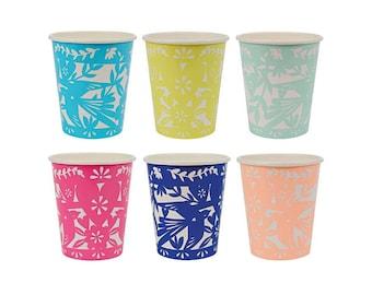 Fiesta Party Cups, Fiesta Paper Cups, Fiesta Party Supplies, Party Ware, Tableware, Kids Birthday, Meri Meri, Cake Time, Fiesta Baby Shower
