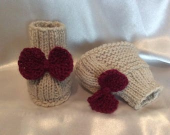 Slippers, shoes, boots T0 6fait hand knit baby