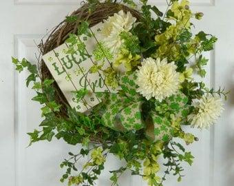 St Patrick's Day Wreath - St Patrick's Wreaths - Luck of the Irish Wreath - St Paddy's Wreaths - St Patty's Wreaths - St Patrick Day Decor