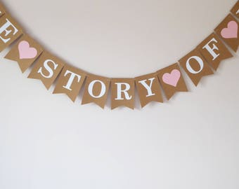 The story of us bunting guestbook wedding table decoration, anniversary party