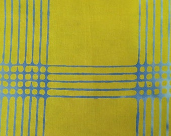 1/2 Yard Chroma Handcrafted Batik Plaid in Citrus from Andover designed by Alison Glass 8132-Y1