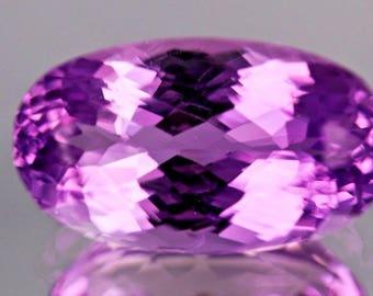 24.50ct,Ovel shape Purple color Kunzite from Afghanistan.