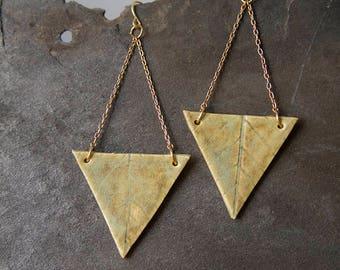 Triangle Leaf Earrings