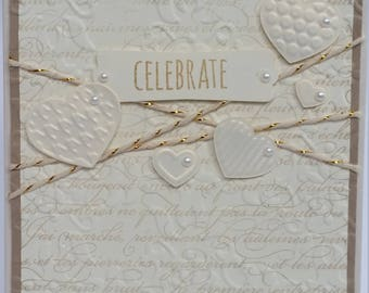 Celebrate classic and elegant wedding card