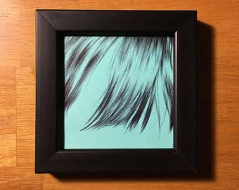 Post It Hair Pen Drawing