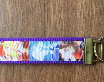 Sailor Moon Key Chain Wristlet Zipper Pull