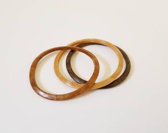 Vintage Wooden Bangle Bracelets
