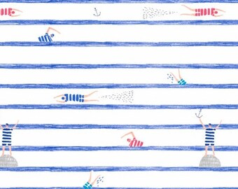 Pier Pressure - Swimmers Stripe White - Dear Stella (Stella-936-White)