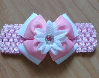 Baby Headband, Pink Headband, Baby Bow Headband, Baby Girl Headband, Baby Hair Accessory, Girls Hairbow, Pink Hairbow, Pink Baby Headband