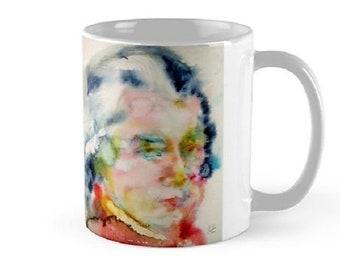 WOLFGANG AMADEUS MOZART watercolor portrait.1 - mug