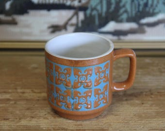 Ceramic Coffee Mug, Vintage, 1970s Retro