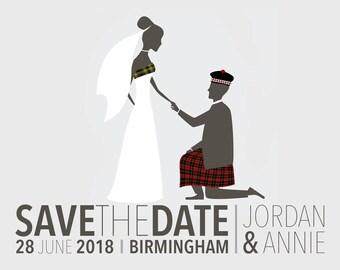 DIGITAL Tartan Save the Date