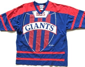 Vintage New York Giants 1994 The Game Short Sleeve T Shirt jersey Size XL Extra Large Unisex Adult Raglan Tee Top