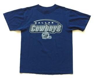 Vintage dallas cowboys t shirt size medium waves t shirt nfl football 100% cotton
