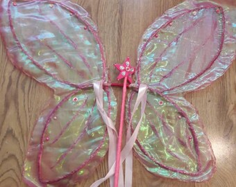 Handmade Fairy Wings (with or without wand)