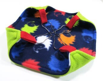 Small square flat hammocks for rats, ferrets or sugar gliders  - rat hammock - reversible - navy blue hedgehogs- READY TO SHIP